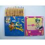 Antiguos Lápices Color Faber Castell X12 Cortos Disney