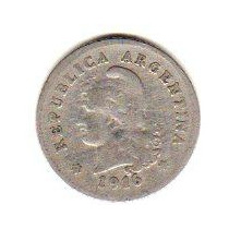 Monedas Argentina Niquel 20 Centavos Año 1916 Oferta