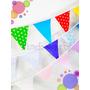 Banderines De Tela Dobles - Decoracion Cumpleaños