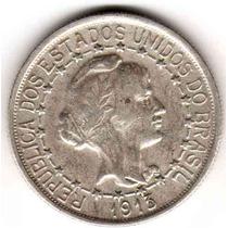 Moneda De Brasil De Plata Año 1913 1000 Reis Muy Buena
