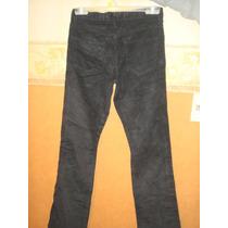 Martina Di Trento Pantalon De Corderoy Negro Talle 36