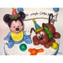 Adorno Para Torta Mickey Bebé - Baby Disney - Narartesana