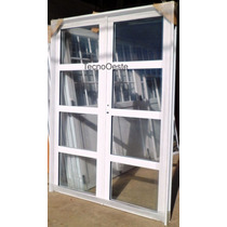 Porton Puerta Doble Aluminio Vidrios Horizontales 160x200