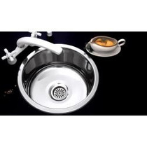 Pileta Bacha Cocina Acero Johnson Simple O 37 A Linea 304