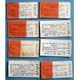 8 Boleto Tren Carton F.c. Sarmiento Vendo El Lote Sin Uso
