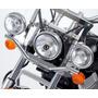 Faroles Adicionale Motos Custom Choper Bober Soporte Cromado