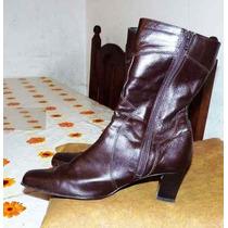 Botas De Cuero 100% Media Caña Lady Comfort