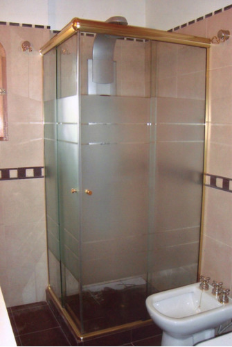 Mamparas de ba o corrediza de vidrio templado x m2 for Mamparas de vidrio templado para banos