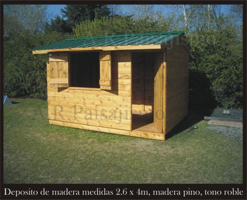 Cobertizo deposito de madera casilla guarda herramientas - Cobertizo de jardin ...
