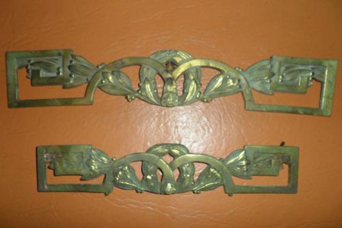 Antiguo juego apliques herrajes bronce para muebles 640 lbbo3 precio d argentina - Herrajes muebles antiguos ...