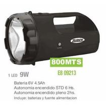 Linterna Recargable Led 9watts Bateria 6v 4,5a Zurich 800mts