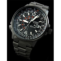 Citizen Pro Master Nighthawk Pilot Eco-drive Bj7019 Black