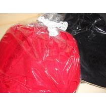 Bata Trasnparente Y Puntilla Talle Xxl 120 Rojo Y Negra