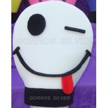 Emoticones Gorros Cotillon Artesanal De Goma Espuma C/u
