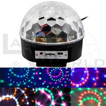 Bola Led Full Color Audiorítmico, Mp3, Control Remoto Luces