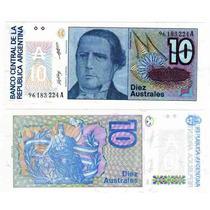 Billete 10 Australes Bottero 2822 4 Dolares Oferta
