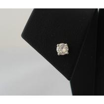 Aro Solitario De Oro Blanco Y Brillante Unisex