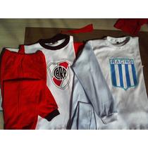 Pijamas Futbol Personnalizados -m. Larga-t:2-4. Envio Gratis