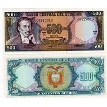 Billete De Ecuador De 500 Sucres Del Año 1984 Sin Circular
