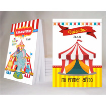 Circo Souvenir Anotador Personalizado X32!!!