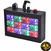 Flash Led Audioritmico Rgb 12 Leds (3w) Dj Fiesta Strobe Luz
