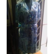 Vestido Señora Talles Grandes Seda Fria T68 Y T 70