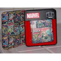 Billetera Cuero Marvel Multi-heroes Colección!! Originales!!
