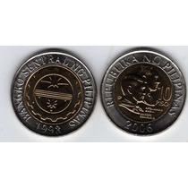 Moneda Bimetalica De Filipinas Del Año 2006 Sin Circular