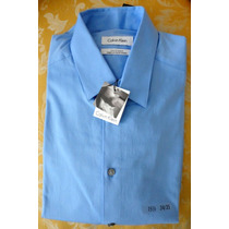 Calvin Klein (usa) Camisa Celeste T15 1/2 34/35 Nueva
