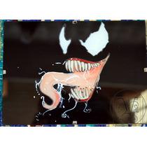 Cuadro Pintado A Mano Sobre Vidrio Venom