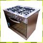 Cocina Semi Industrial Usman 6 Hornallas 90 Cm Puerta Visor