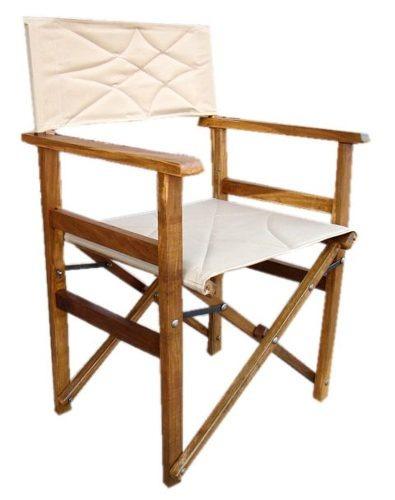 Combo sillones director y mesa de madera plegables for Sillones de madera para exterior