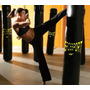 Bolsa De Boxeo 150cm+ Guantes + Kit Soporte Techo--erossport