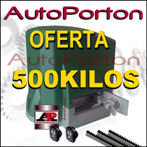 Kit Automatizacion Porton Corredizo Motor Automatico Ch 500