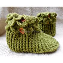 Pantuflas Tejidas Crochet - Lanegracreaciones