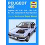 Manual Integral De Taller Peugeot 405 Nafta. Todas Versiones