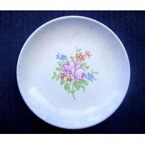 Plato Miniatura De Porcelana Gamma Con Flores