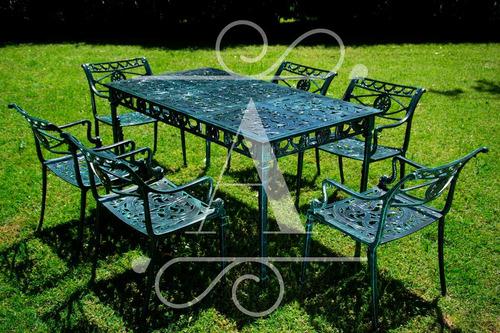Juego De Jardín De Aluminio Modelo Sutra Mesa Y 6 Sillones - $ 19604 ...