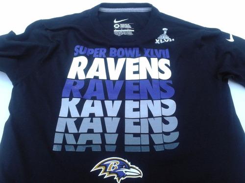 90026436e7416 Camiseta Super Bowl Xlvii Nfl Baltimore Ravens M largas Orig