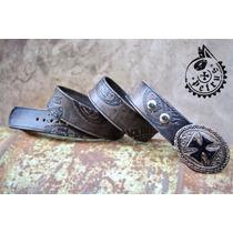 Cinturon De Cuero Jack Daniel´s Y Hebilla Cuz Malta - Cinto