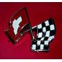 Chevrolet 400 Insignia Banderas Cruzadas Guardabarro Del.