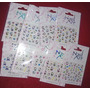 10 Planchas Stickers Para Uñas Kitty Nail Art Souvenirs