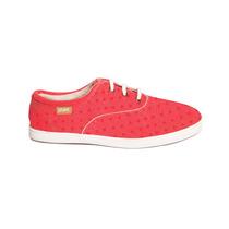 Zapatilla Paez Rojas A Lunares - Sneaker Red Polka Mujer