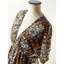 Divino Vestido Rapsodia-estampa Floral-modelo Sencillo-m