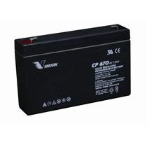 Bateria Vision Cp670 6 V 7 Ah P/ Ups , Juguetes, Iluminacion