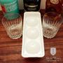 2 Vasos Whiskey De Cristal + Hielera Bolas De Hielo + Cuotas