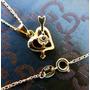 Corazón 18 Kgf Con Circonita Cadena De Oro 14 K Gf 40 Cm