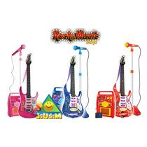 Super Set Guitarra+microfono+amplificador Entrada Mp3 Jiujim