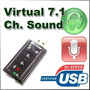 Placa Sonido Ext Usb 7.1 Notebook Netbook Tab Pc Virtual Dj