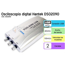 Osciloscopio Digital Usb 60mhz Hantek Dso2090 Ideal Notebook